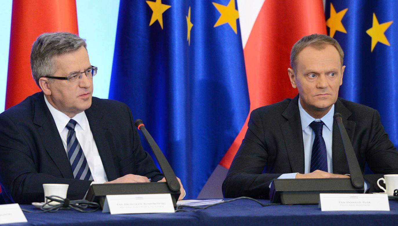 Bronisław Komorowski komentuje wiadomość od teściowej Donalda Tuska (fot. arch.PAP/J.Turczyk)