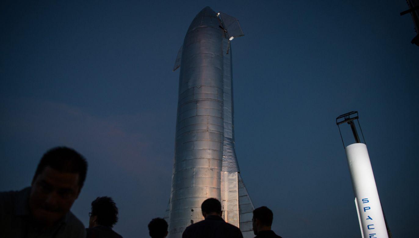 Pierwszy próbny lot statku Starship odbędzie się za 1 - 2 miesiące(fot. Loren Elliott/Getty Images)