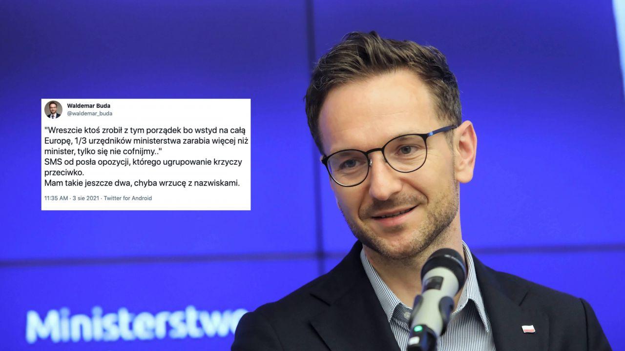 Wiceminister funduszy i polityki regionalnej Waldemar Buda (fot. PAP/Wojciech Olkuśnik)