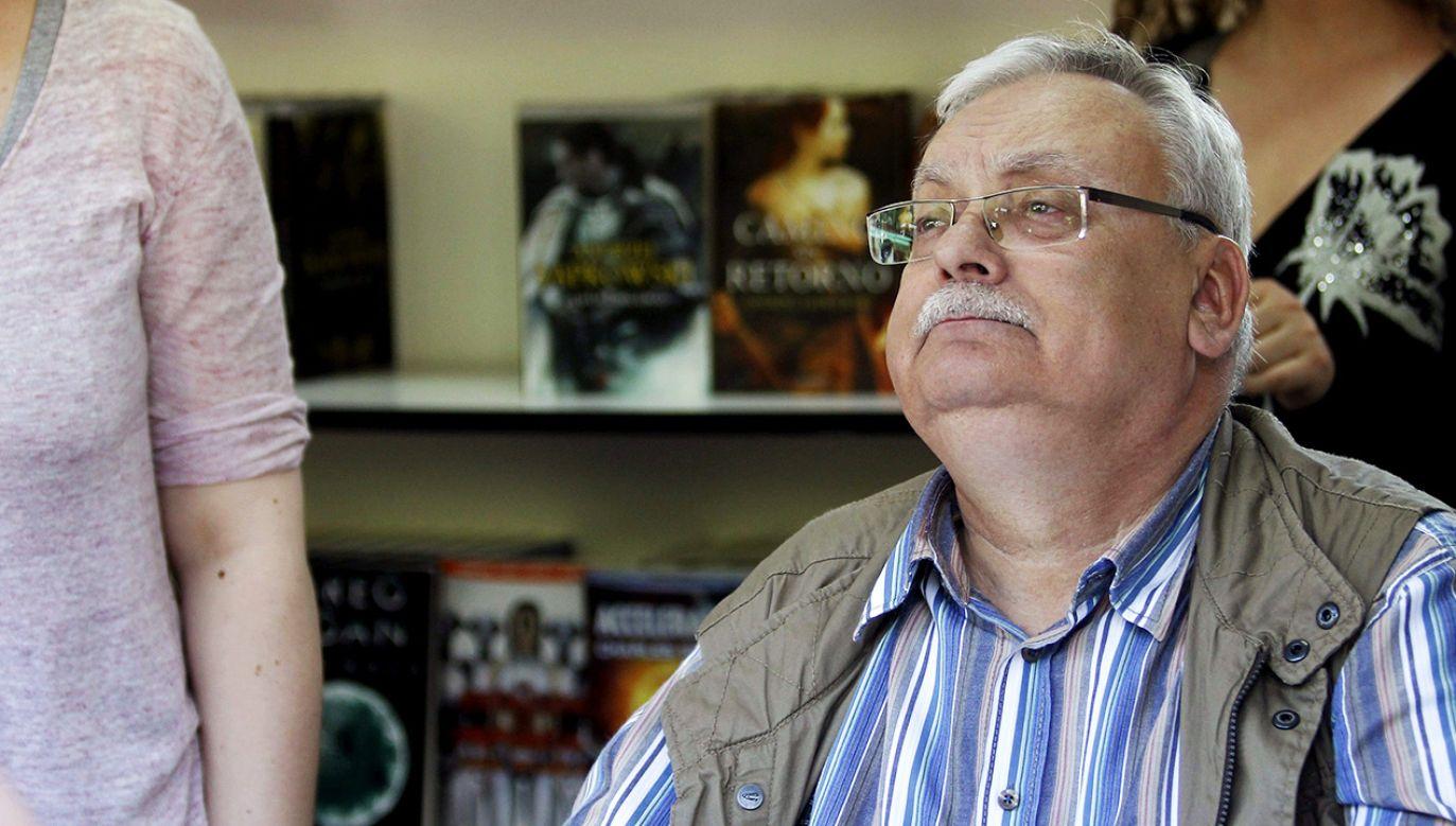 Książki Andrzeja Sapkowskiego podbijają świat (fot. arch. PAP/EPA/VICTOR LERENA)