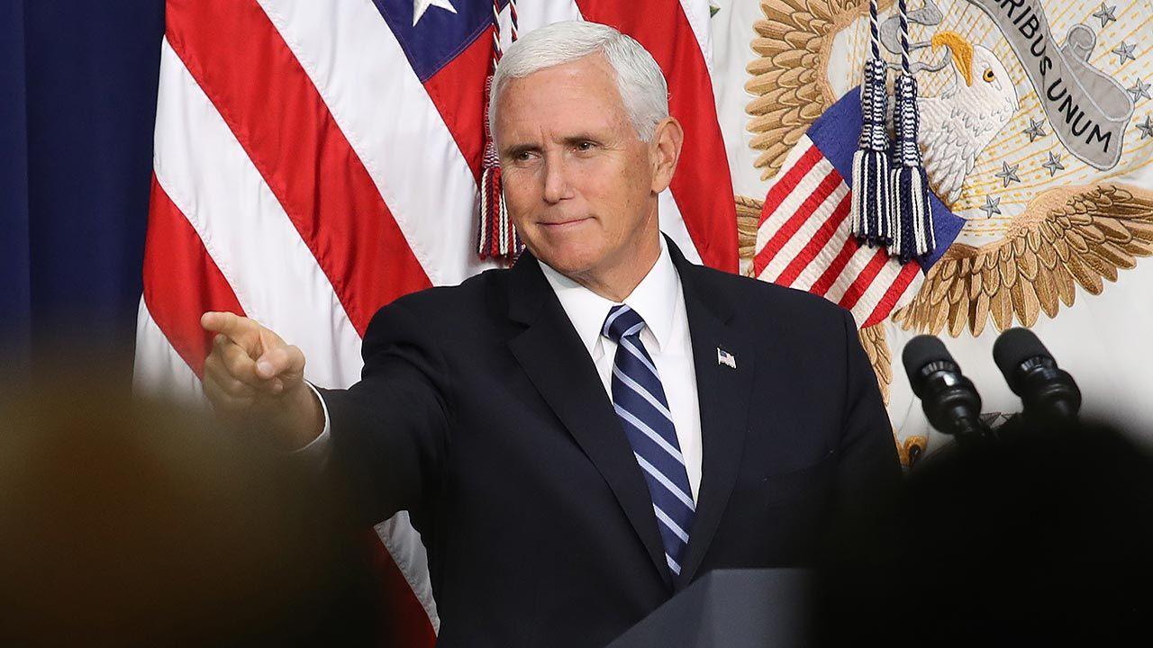 Pence ogłosił powstanie nowej grupy politycznej (fot. Win McNamee/Getty Images)