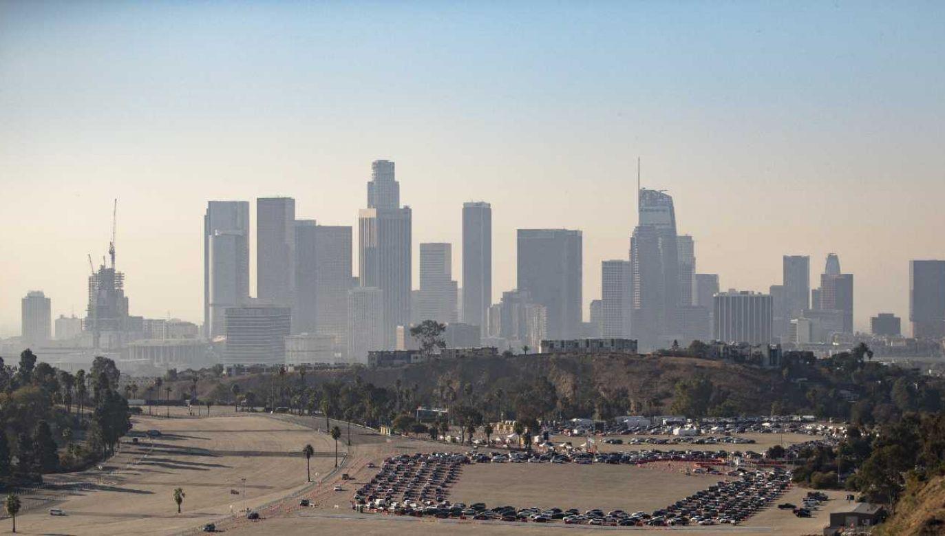 Los Angeles jest jednym z ognisk epidemii w USA (fot. PAP/EPA/ETIENNE LAURENT)