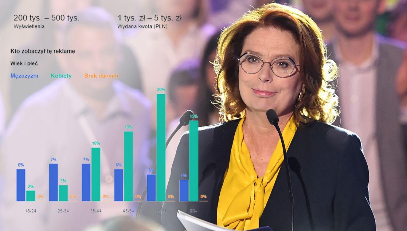 Na promocję samej tylko kandydatki KO na premiera Małgorzaty Kidawy-Błońskiej wydano blisko 120 tys. zł (fot. PAP/Radek Pietruszka/FB/Małgorzata Kidawa-Błońska)