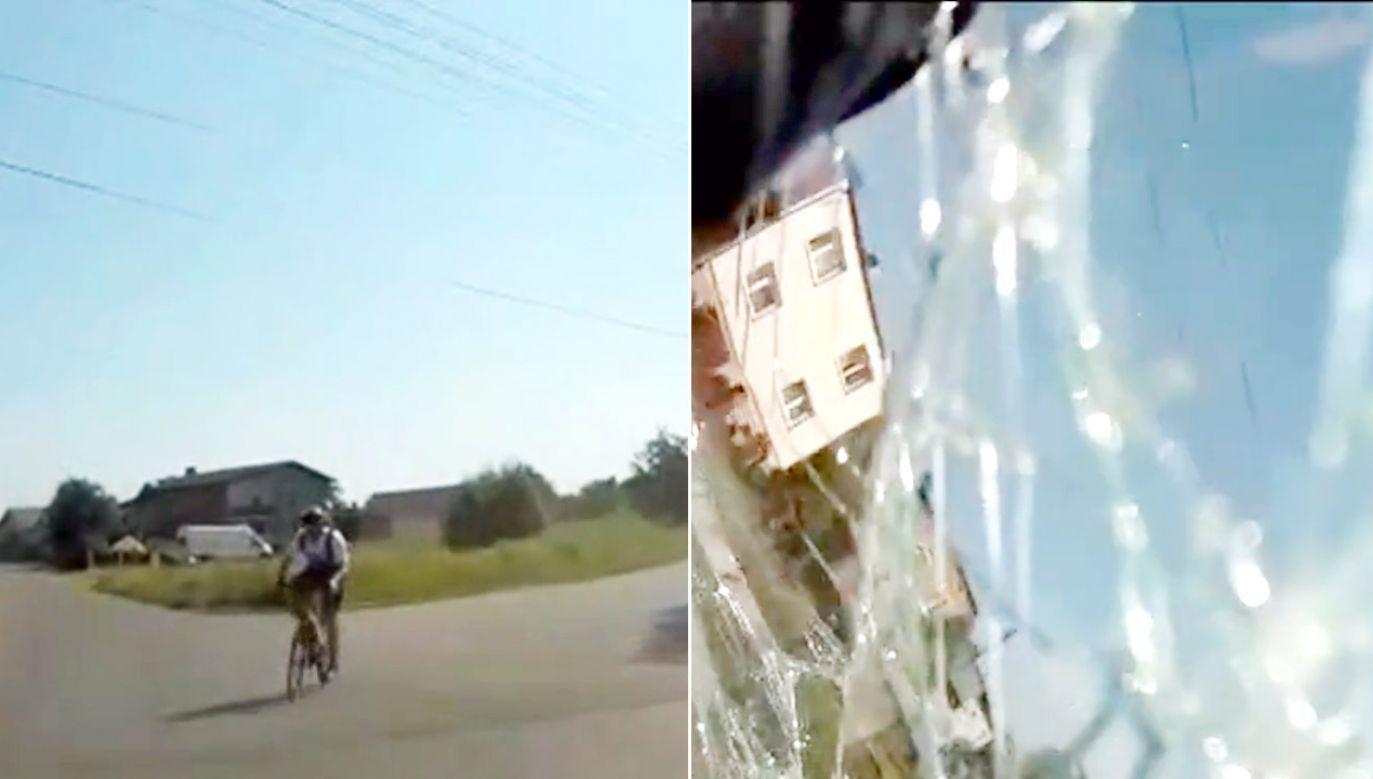 Rowerzysta zignorował znaki ostrzegawcze  (fot. policja.pl)