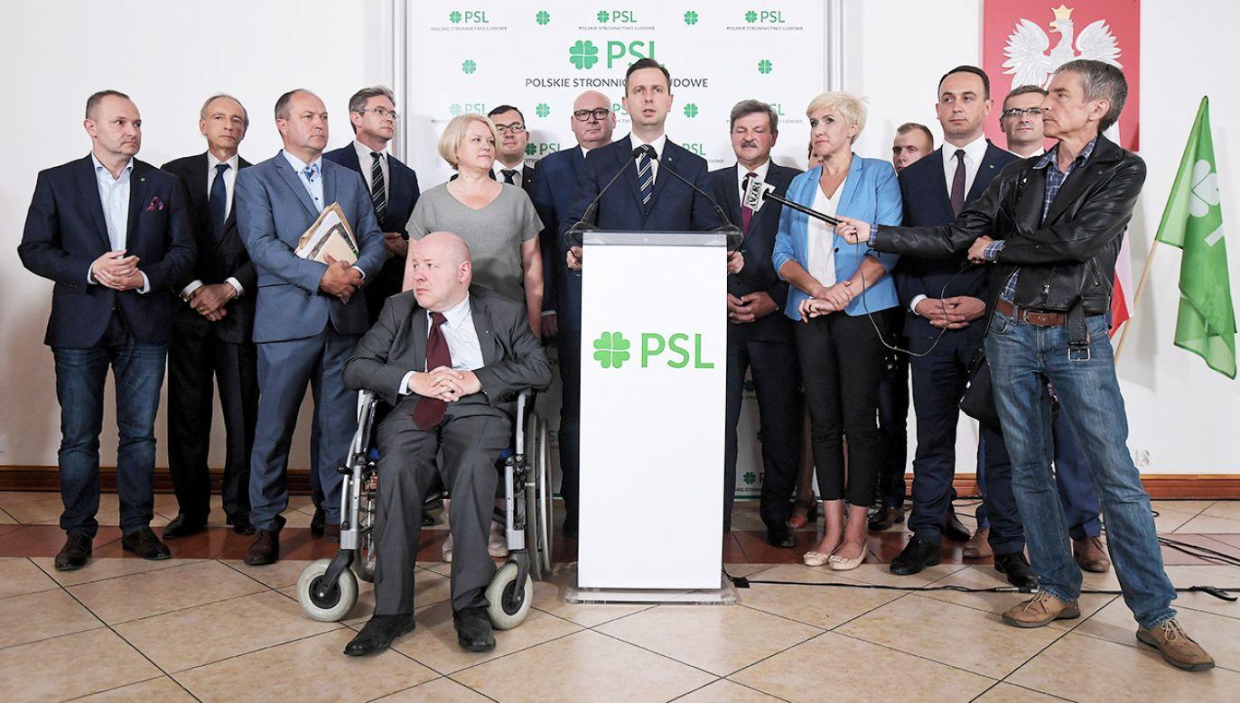 """""""Być może uda się stworzyć jedną listę lewicy, być może PSL przekroczy próg wyborczy"""" (fot. PAP/Marcin Obara)"""