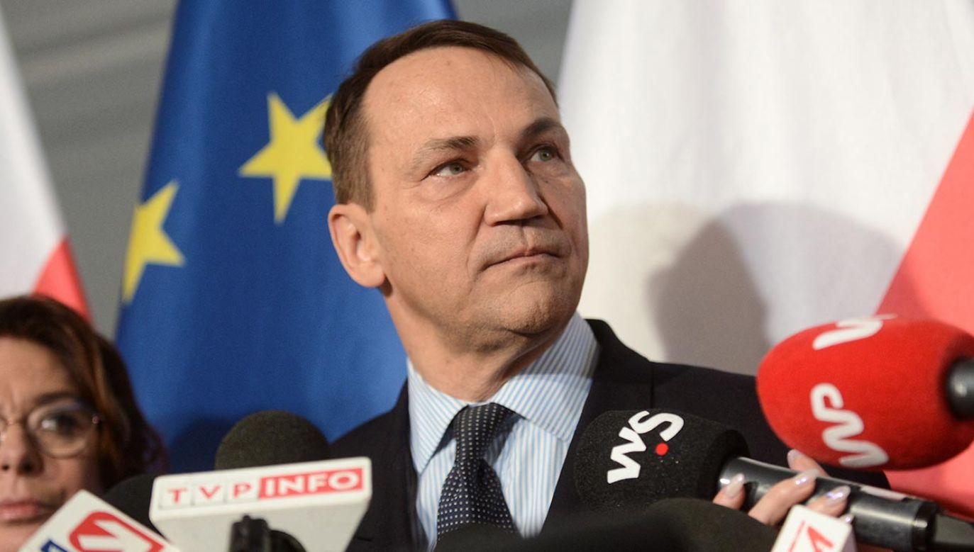 Radosław Sikorski (fot. PAP/Marcin Obara)