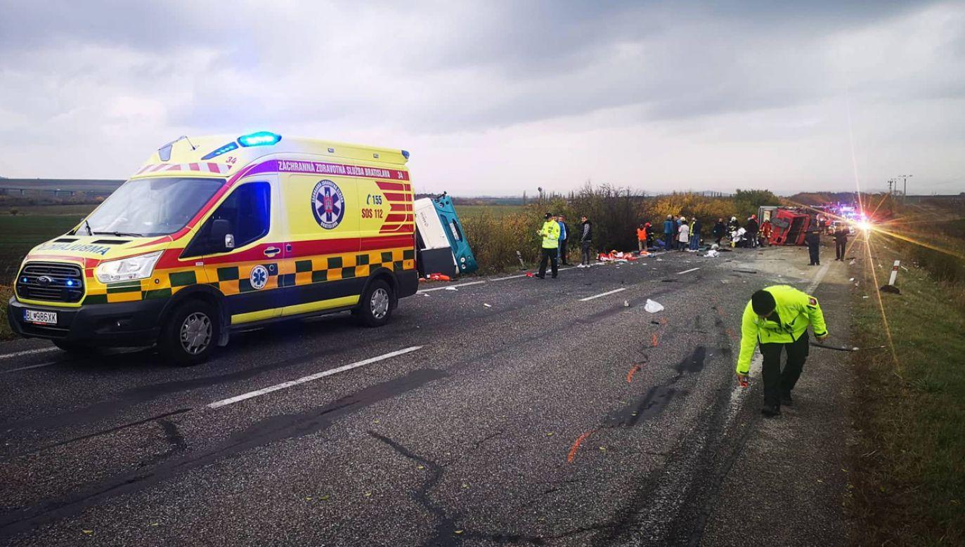 W związku z wypadkiem władze Słowacji ogłosiły żałobę narodową (fot. PAP/EPA/Presidium of Fire and Rescue Corps)