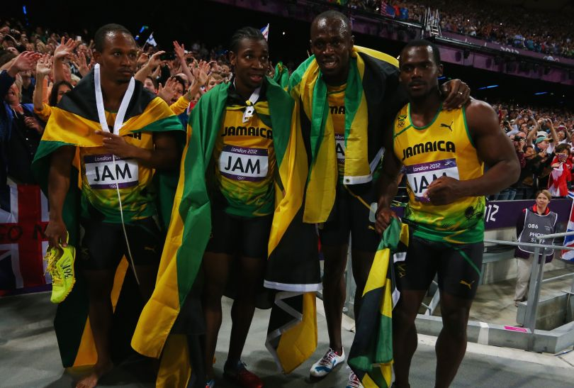 Frater, Blake, Bolt, Carter – jamajski Dream Team (fot. Getty Images)