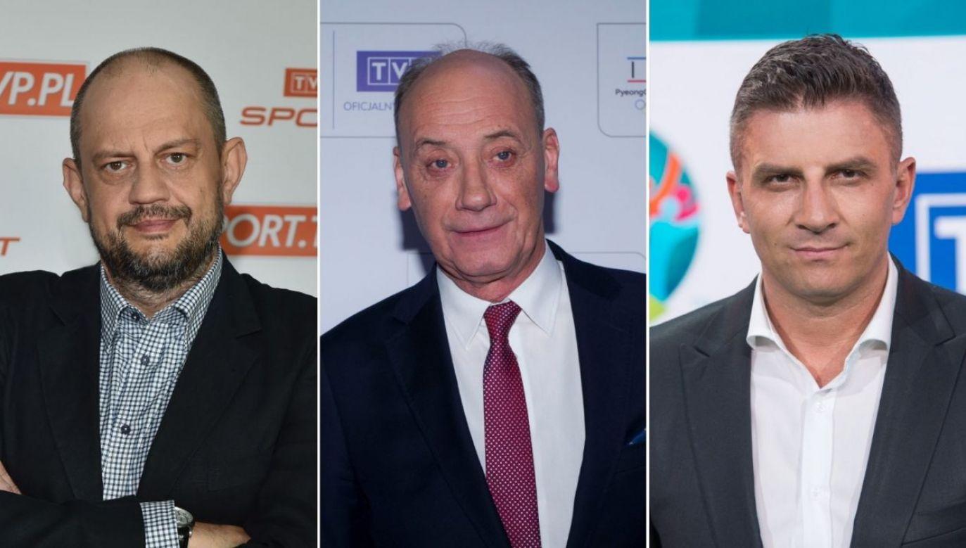 Jacek Laskowski, Dariusz Szpakowski i Mateusz Borek już wkrótce skomentują kolejne spotkania (fot. TVP.pl)