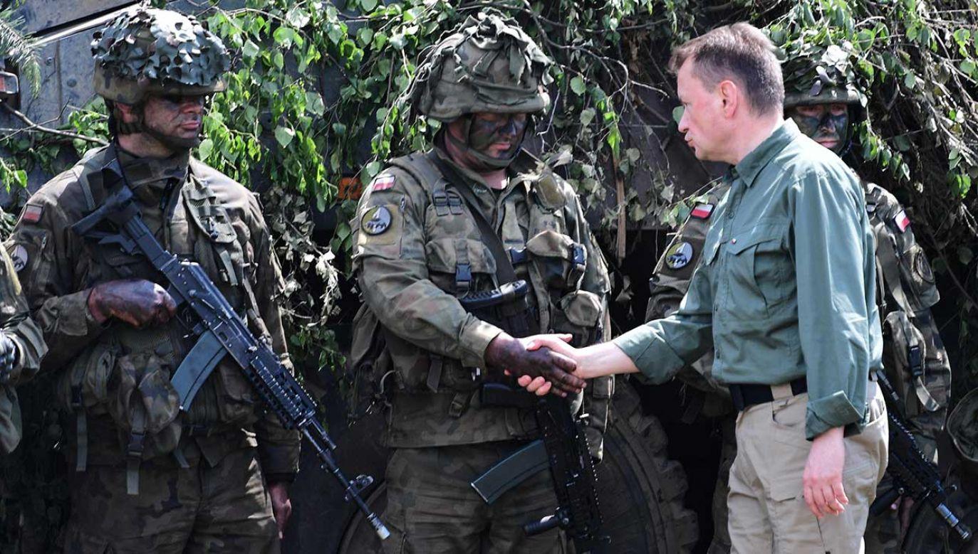 Wzmacnianie polskiej armii jest reakcją na agresywna politykę Rosji – powiedział szef MON Mariusz Błaszczak (fot. arch. PAP/Marcin Bielecki)