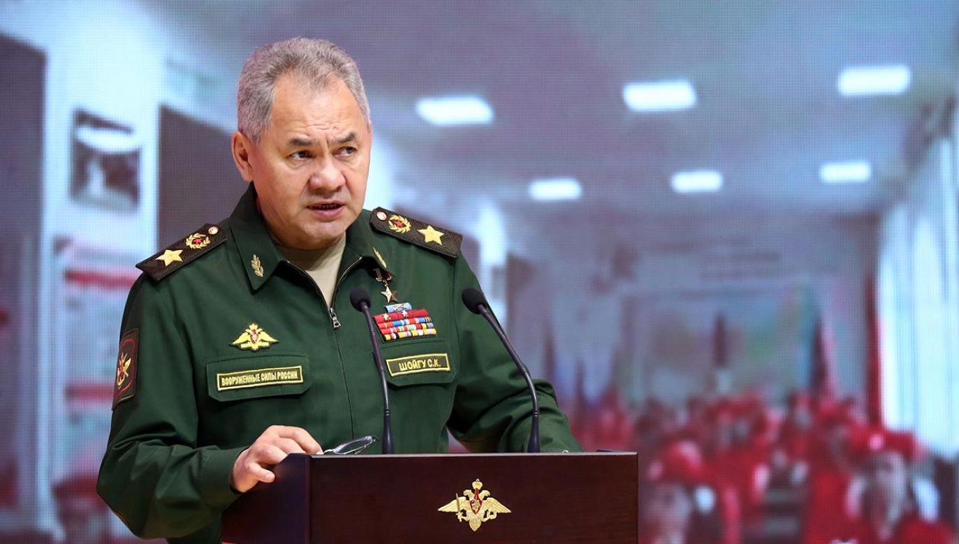 Minister obrony Rosji Siergiej Szojgu (fot. Mikhail Tereshchenko\TASS via Getty Images)