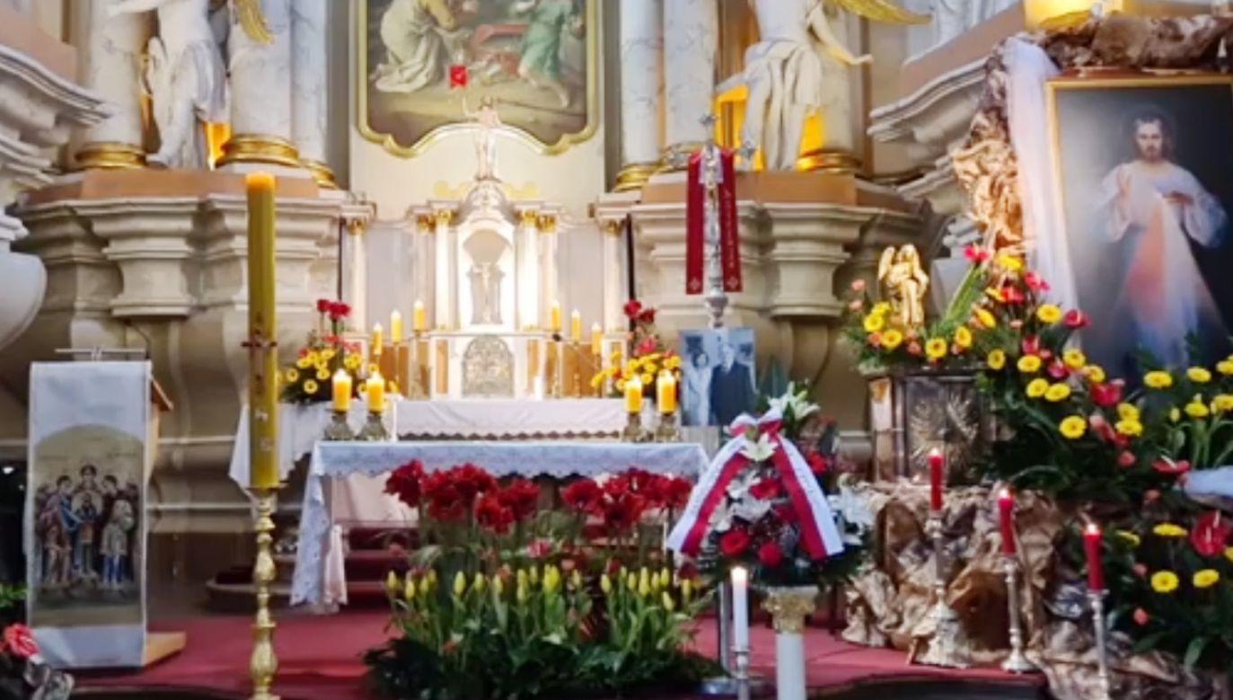 Msza św. na Litwie odbyła się z inicjatywy ambasady RP (fot. Facebook/Vilniaus Šv. arkangelo Rapolo parapija/Parafia św. Rafała Archanioła Wilnie)