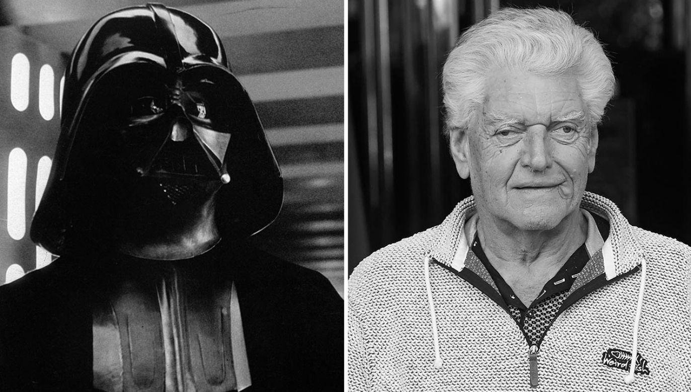 """Dave Prowse był odtwórcą roli Dartha Vadera w """"Gwiezdneych Wojnach"""" George'a Lucasa (fot. Century-Fox/Getty Images; Carlos Alvarez/Getty Images)"""
