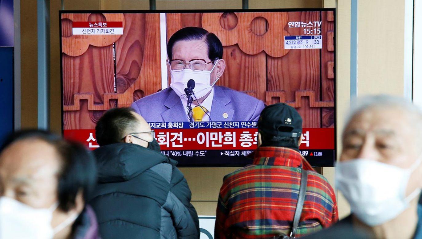 Lider południowokoreańskiej sekty Kościoła Jezusa Shincheonji został aresztowany (fot. REUTERS/Heo Ran)