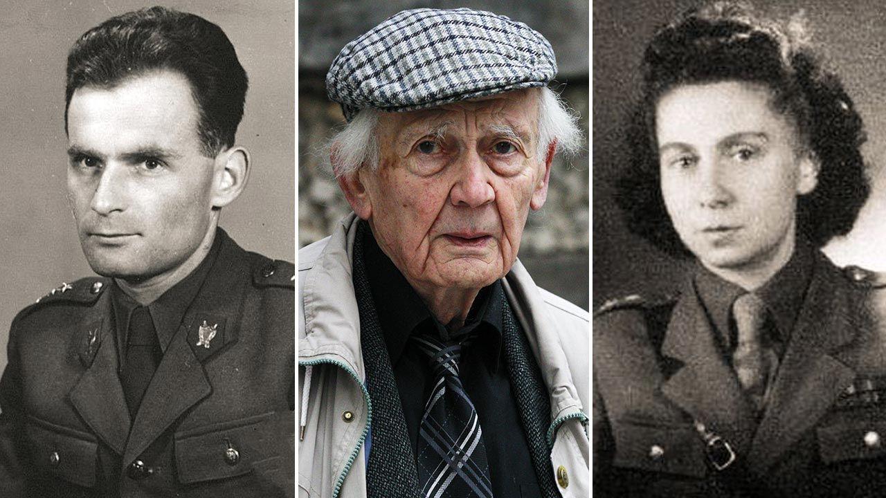 Stefan Michnik, Zygmunt Bauman, Helena Wolińska (fot. IPN; PAP/EPA/BALLESTEROS; IPN)