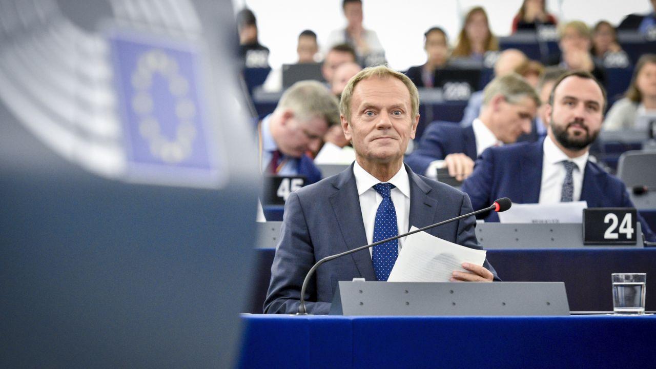 Donald Tusk spotka się z Borysem Budką (fot. European Union 2019 - Source : EP, Marc DOSSMANN)