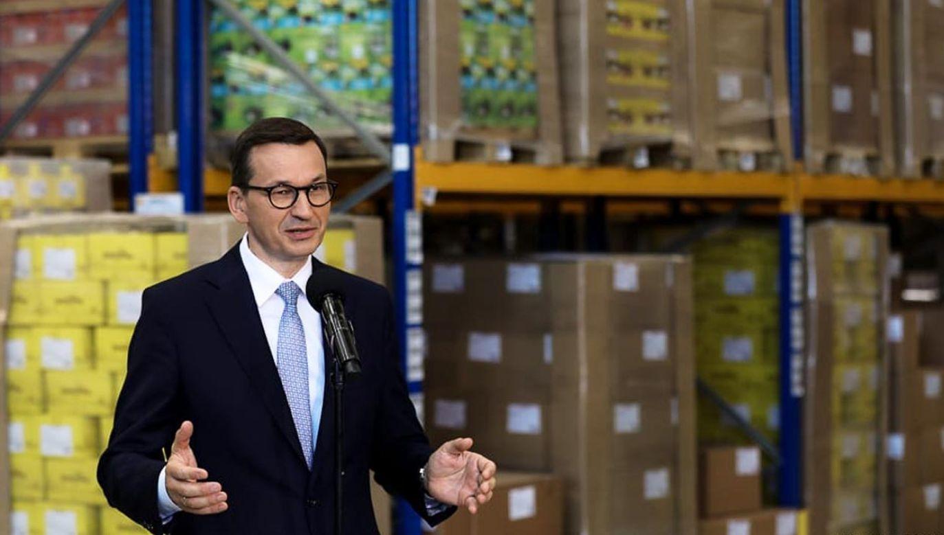 Mateusz Morawiecki potwierdził rządową pomoc dla pogorzelców (fot. Krystian Maj/KPRM)