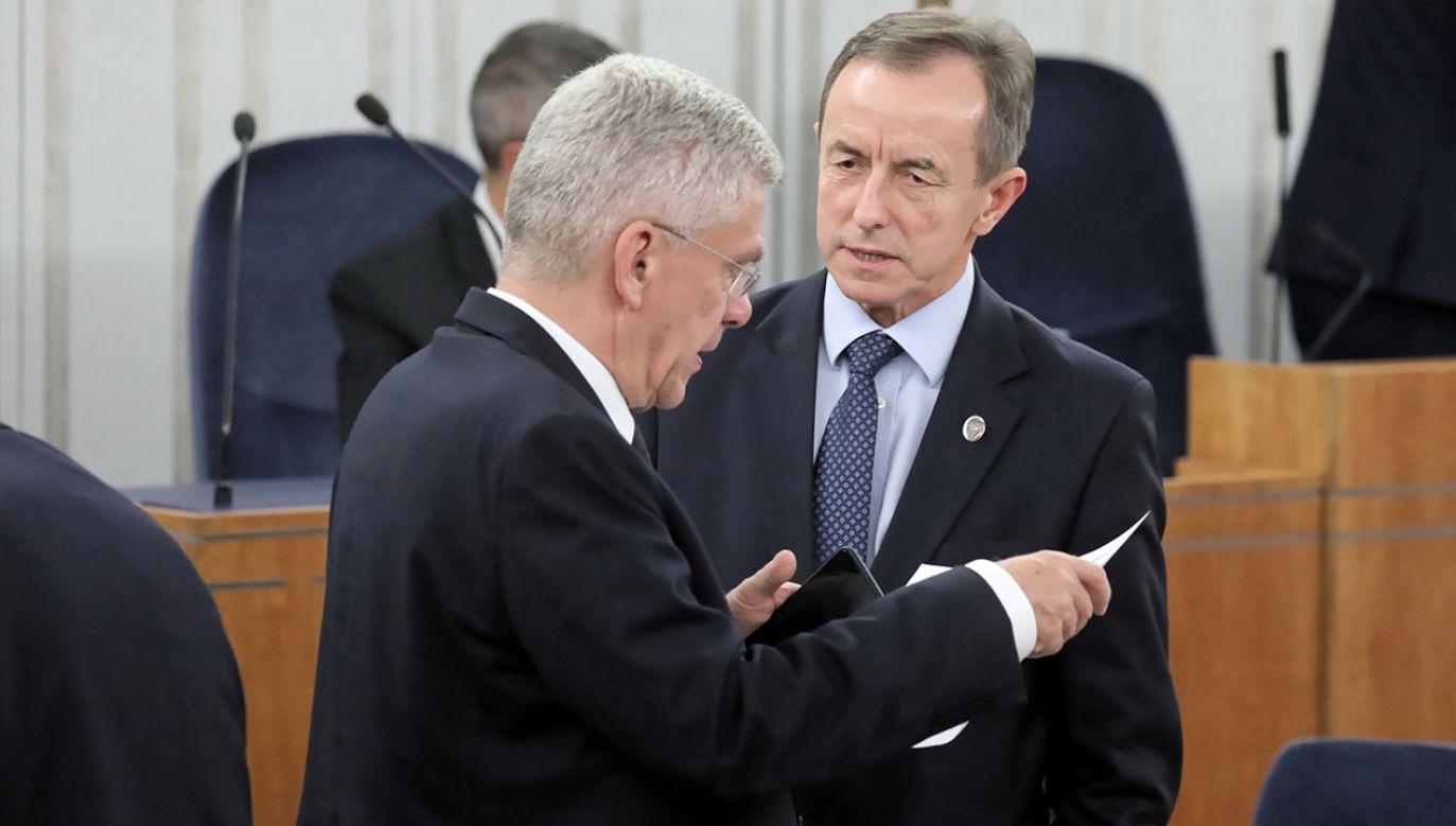 W piątek marszałek Grodzki wygłosi swoje orędzie (fot. PAP/Tomasz Gzell)