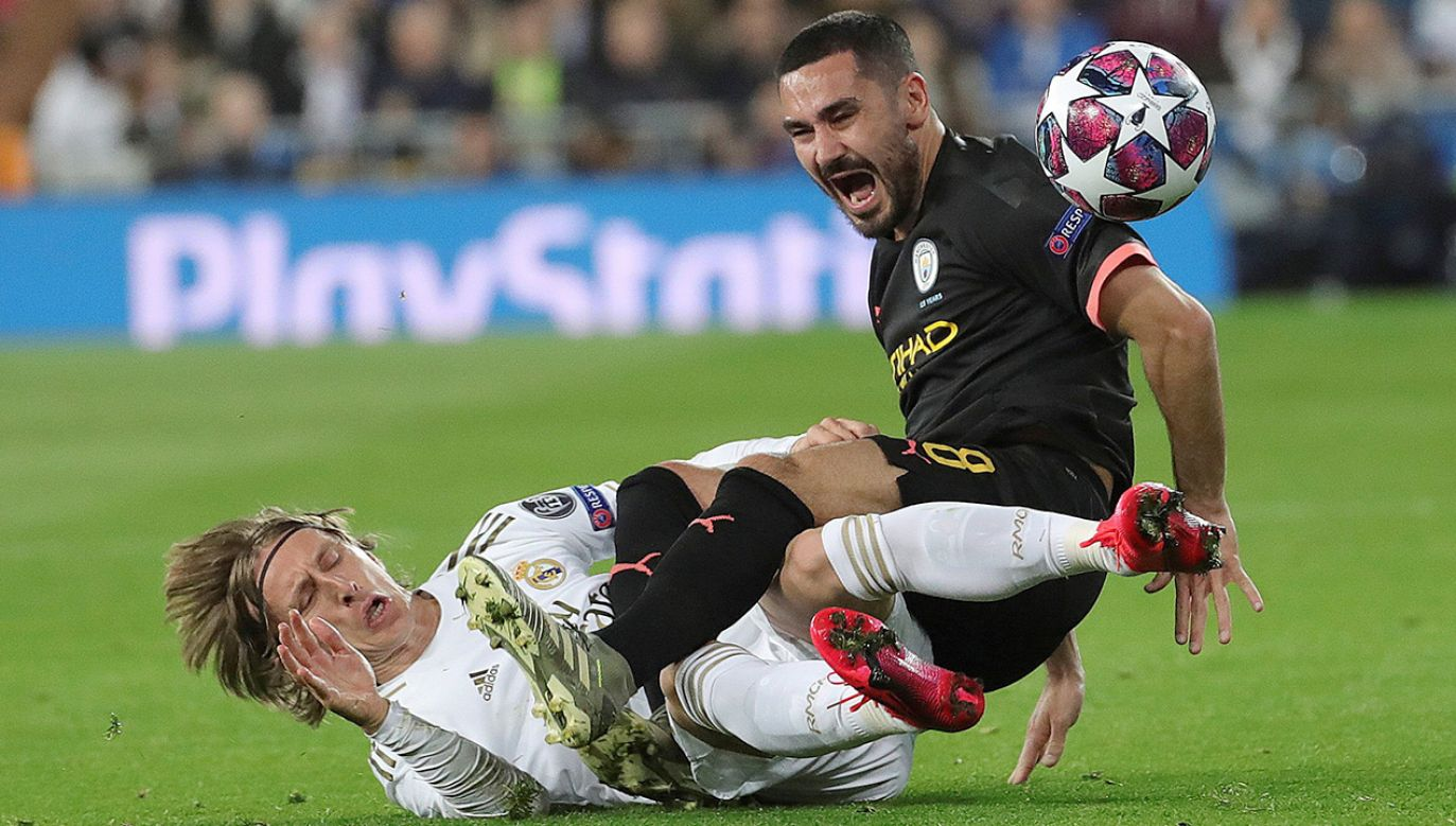 Luka Modrić i Ilkay Gundogan (fot. PAP/EPA/JUANJO MARTIN)