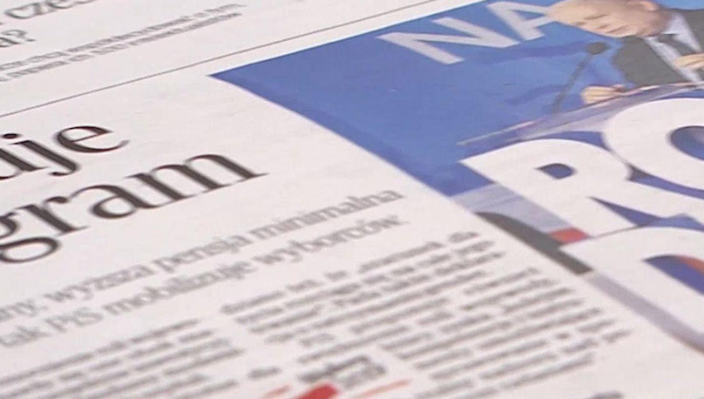 Antoni Trzmiel poprowadził poranny przegląd prasy (fot. TVP)