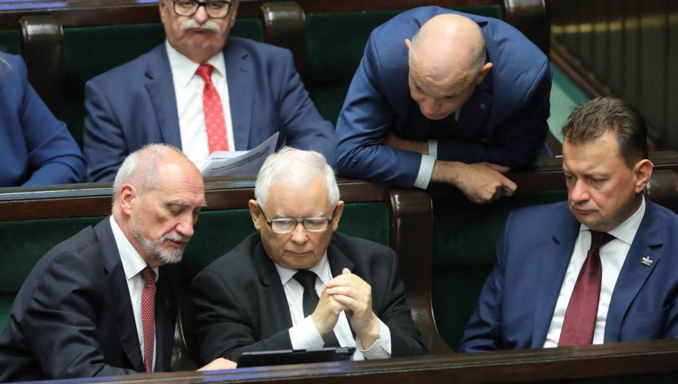 Tarcia w Zjednoczonej Prawicy po głosowaniu w Sejmie (fot.PAP/Wojciech Olkuśnik)
