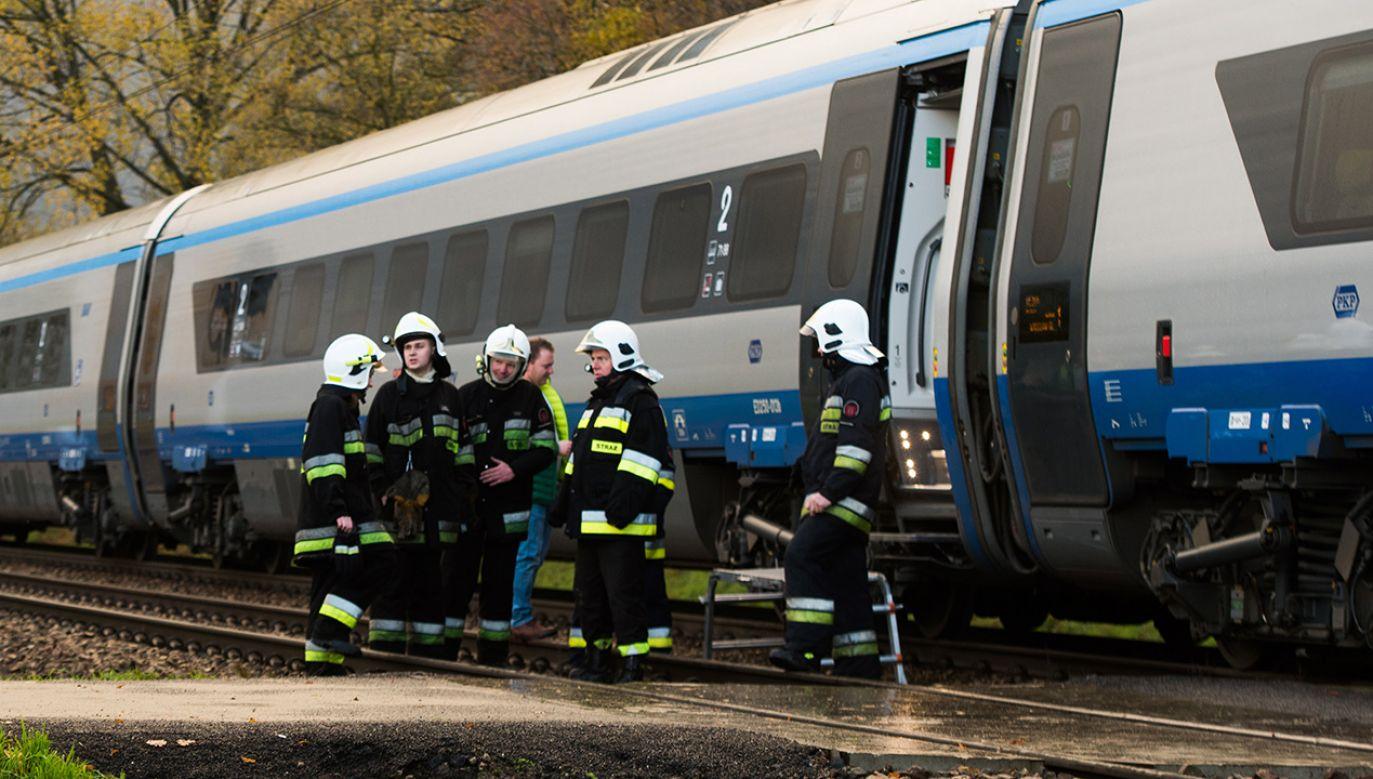 Na miejsce jadą służby sanitarne (fot. arch.PAP/Grzegorz Michałowski)