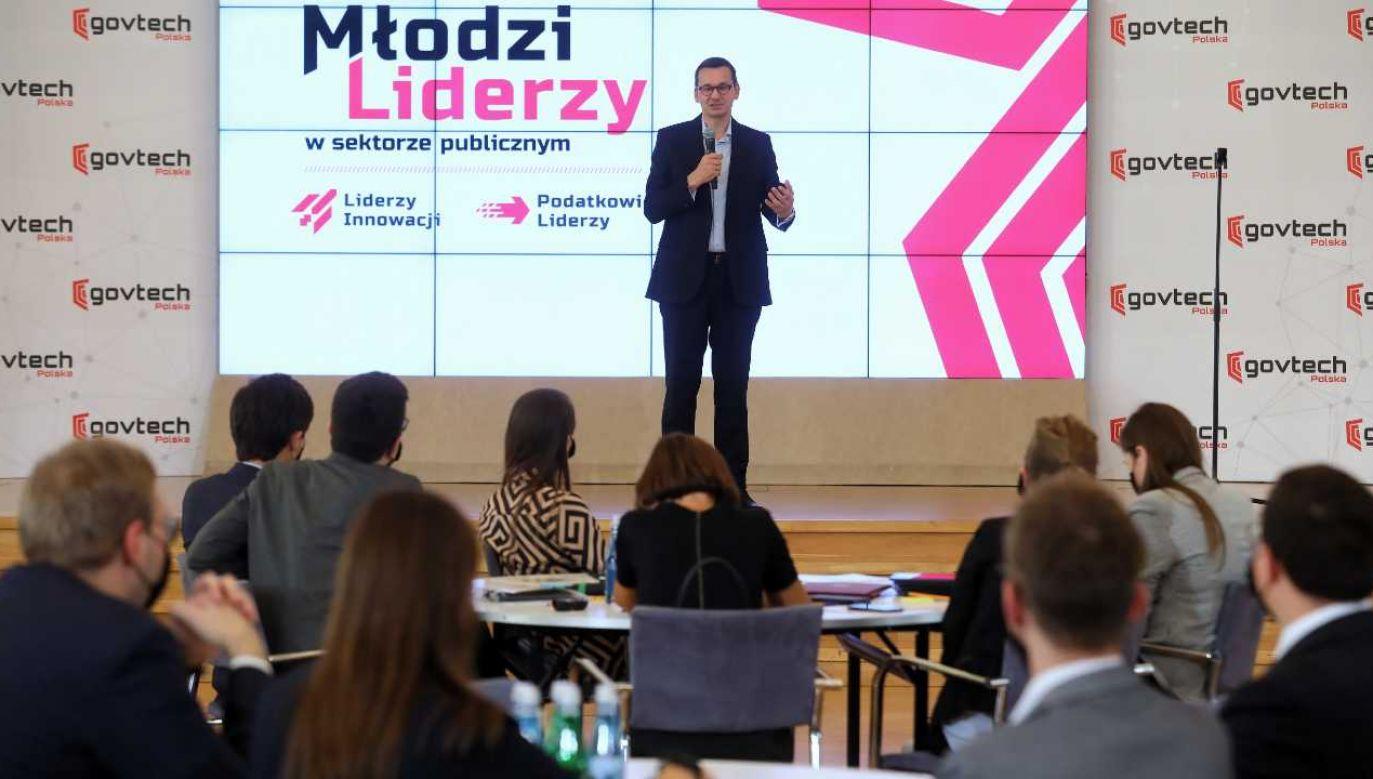 Premier Mateusz Morawiecki (fot. PAP/Rafał Guz)