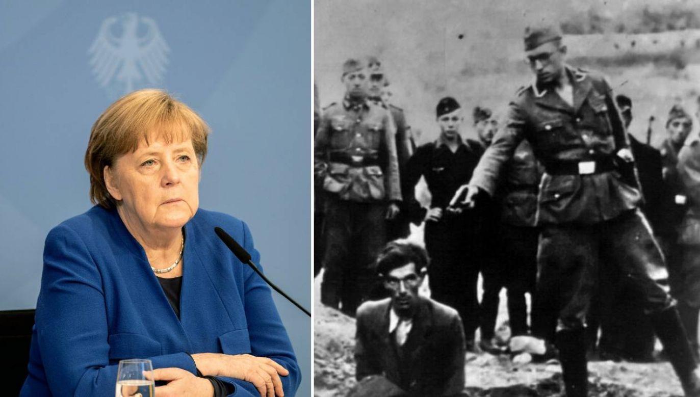 Kanclerz Merkel mówiła o odpowiedzialności za zbrodnie podczas II wojny światowej (fot. PAP/EPA/FILIP SINGER / POOL/cc)
