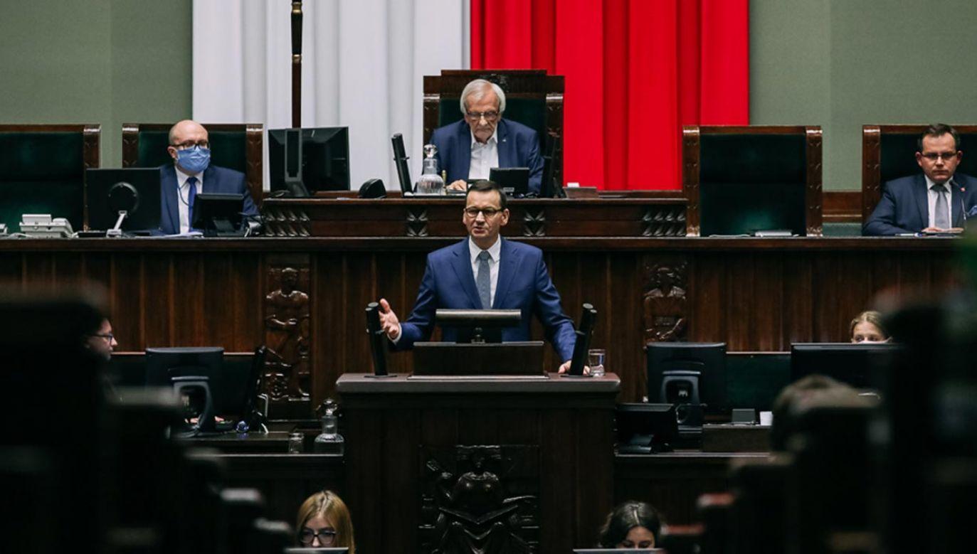 Mateusz Morawiecki zrobił dokładnie to, czego potrzebowała łapiąca w ostatnim czasie zadyszkę kampania Andrzeja Dudy (fot. Adam Guz/KPRM)