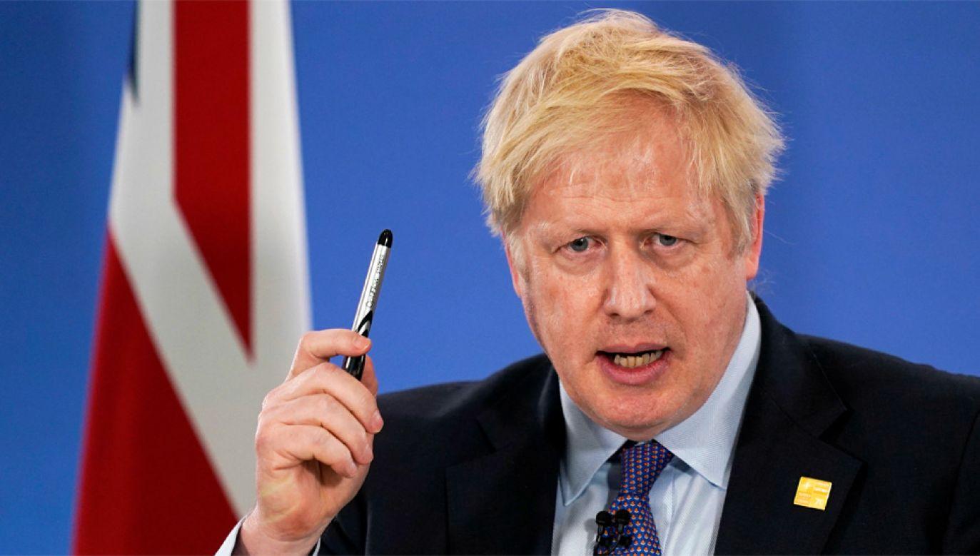 Boris Johnson walczy o ponowny wybór na urząd premiera (fot. PAP/EPA/WILL OLIVER/POOL)