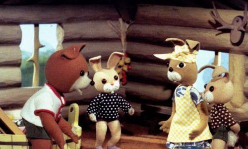 """""""Miś Uszatek"""" to animowany serial telewizyjny, emitowany w Telewizji Polskiej w latach 1975–1987. Fot. TVP"""
