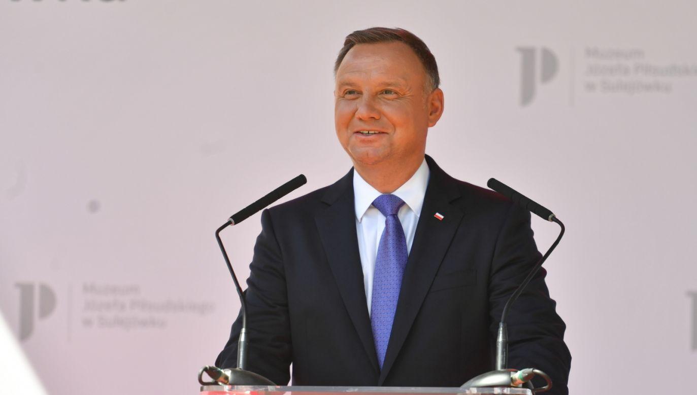 Prezydent wziął udział w uroczystości otwarcia Muzeum Józefa Piłsudskiego w Sulejówku (fot.PAP/Piotr Nowak)