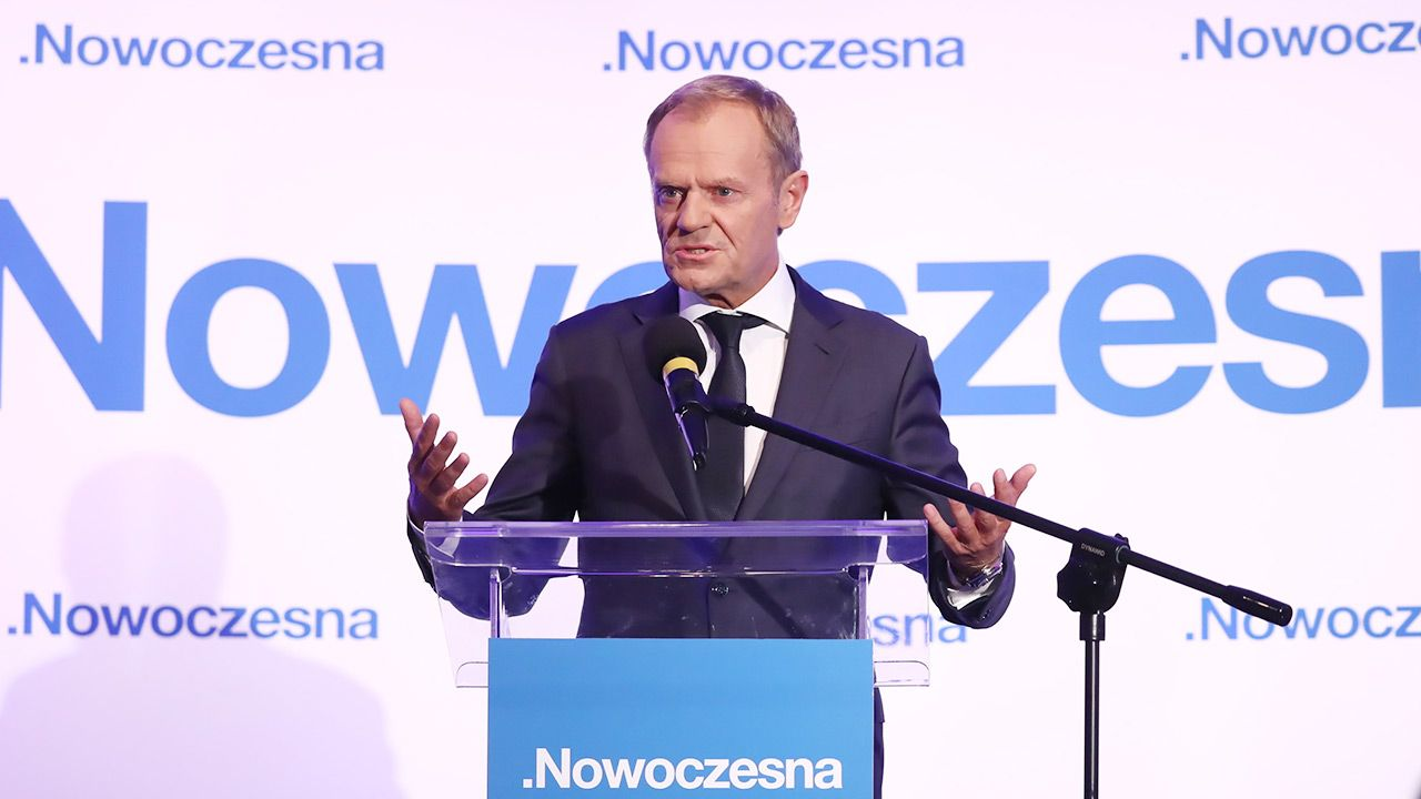 Donald Tusk był gościem Rady Krajowej Nowoczesnej  (fot. PAP/Tomasz Gzell)