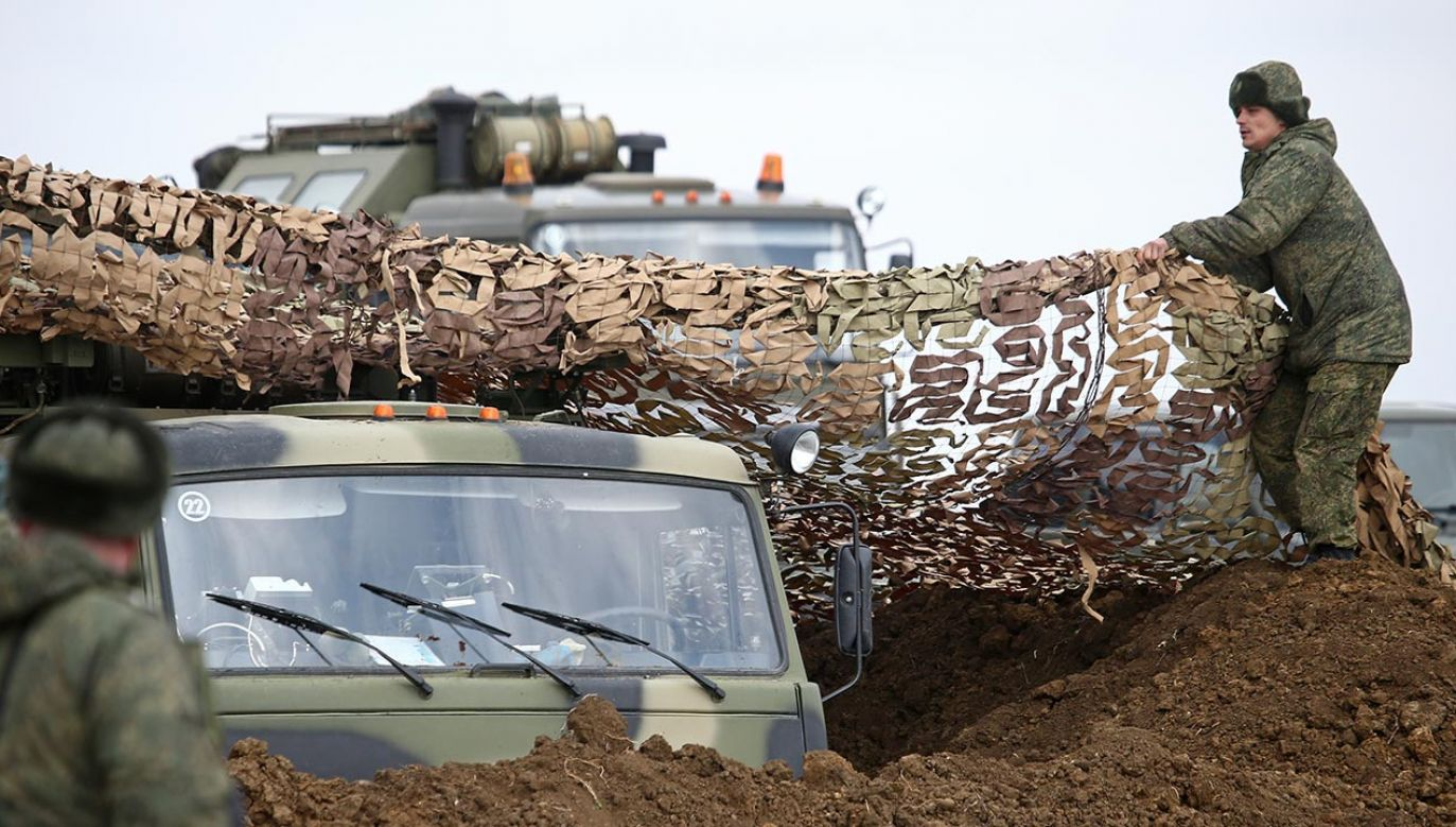 Koncentracja wojsk rosyjskich (fot. Sergei Malgavko\TASS via Getty Images)