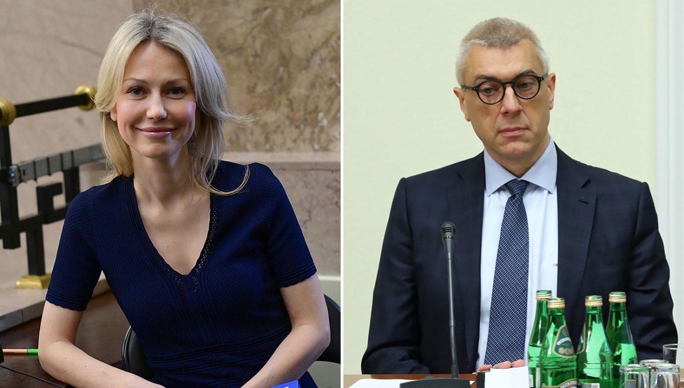 Roman Giertych zasugerował, że za pieniądze dla chorych Magdalena Ogórek kupi sobie torebkę (fot. arch. PAP/Marcin Obara,Tomasz Gzell)
