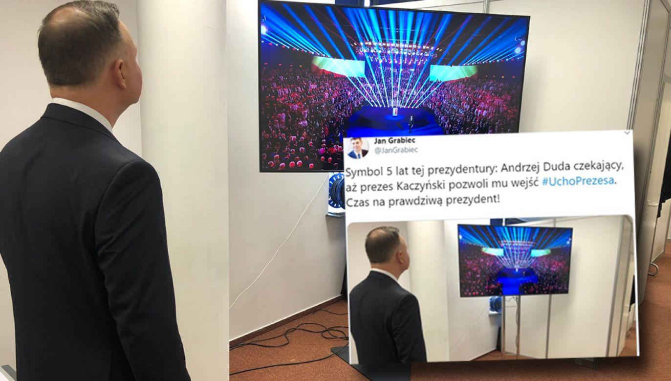 Politycy opozycji drwili z prezydenta Andrzeja Dudy (fot. TT/Paweł Szefernaker)