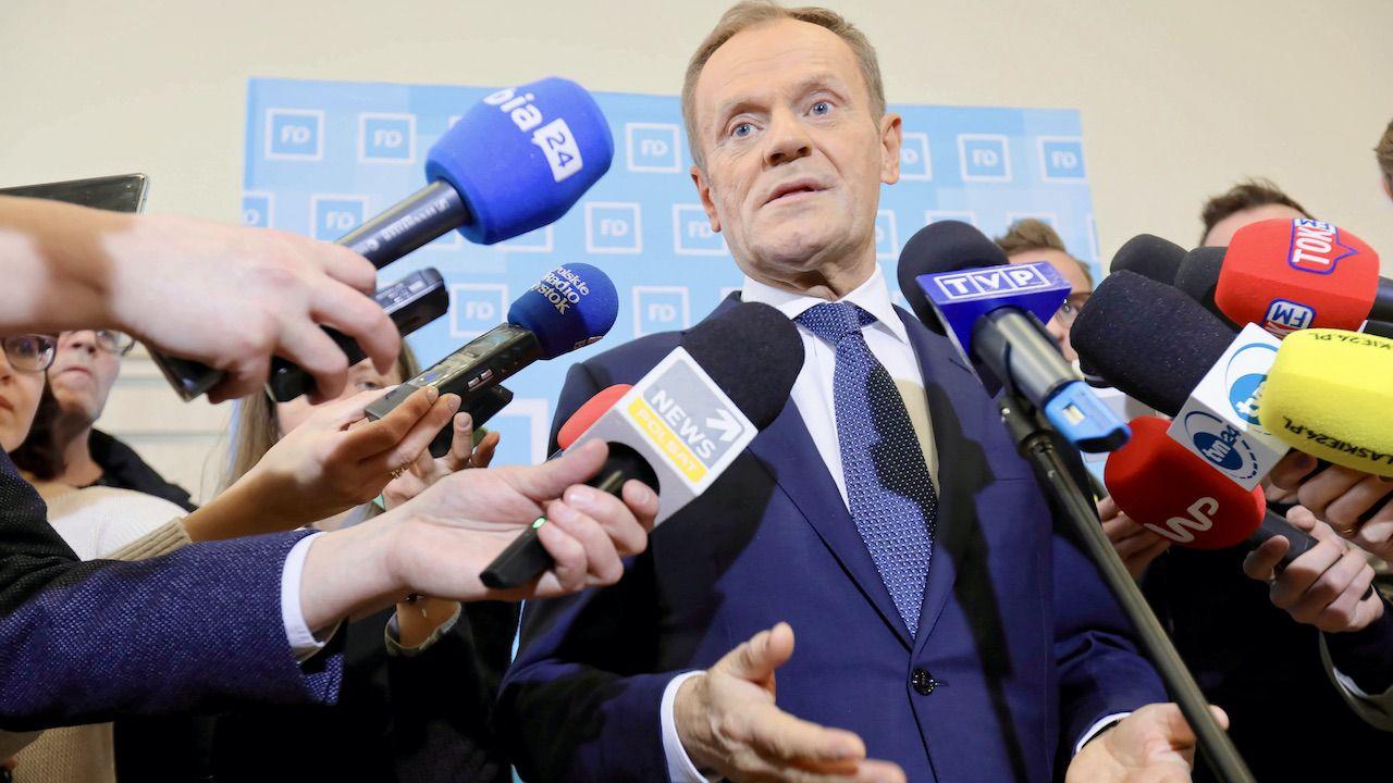 Co Polacy myślą o Tusku? (fot. arch.PAP/Artur Reszko)