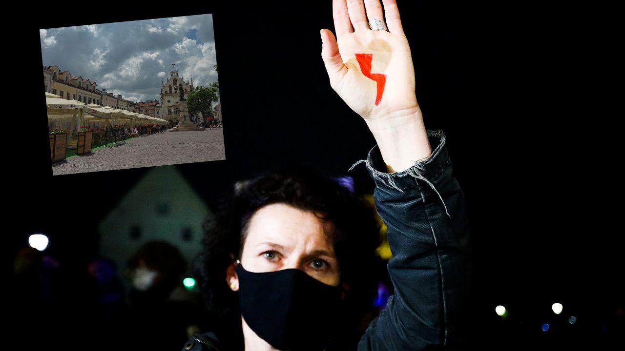 Pod koniec nagrania działaczka ujawniła przyczynę (fot. Beata Zawrzel/NurPhoto; Artur Widak/NurPhoto via Getty Images)