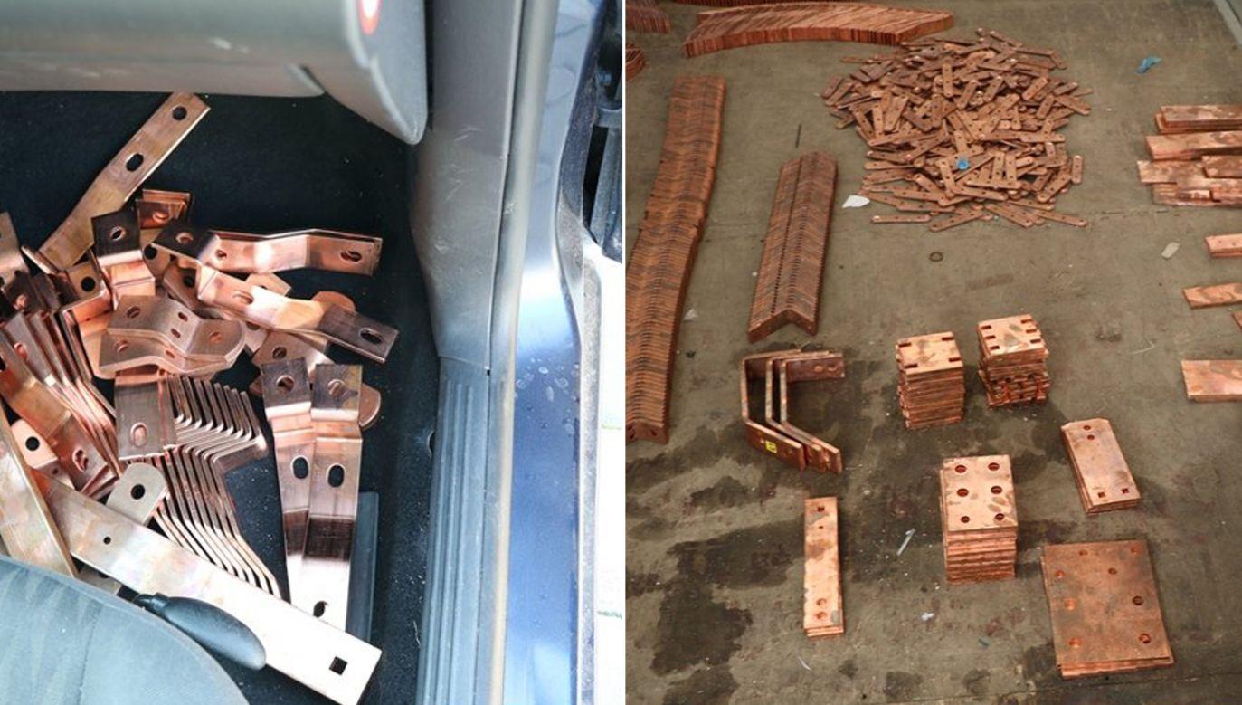Skradzione elementy wynosił w torbie na laptopa (fot. swietokrzyska.policja.gov.pl)