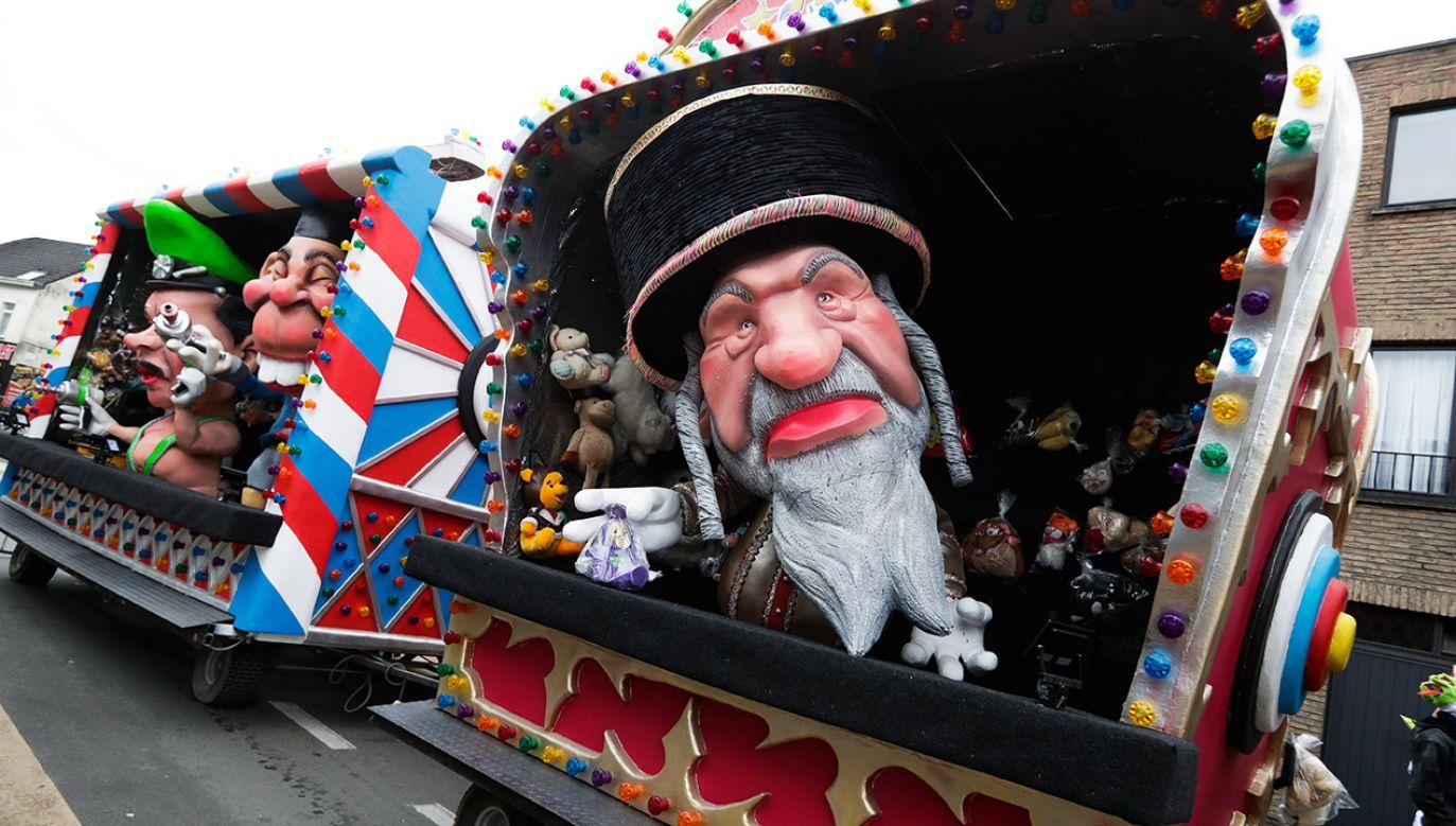 Izrael wezwał Belgię do zakazania tradycyjnej parady karnawałowej (fot. PAP/EPA/STEPHANIE LECOCQ)