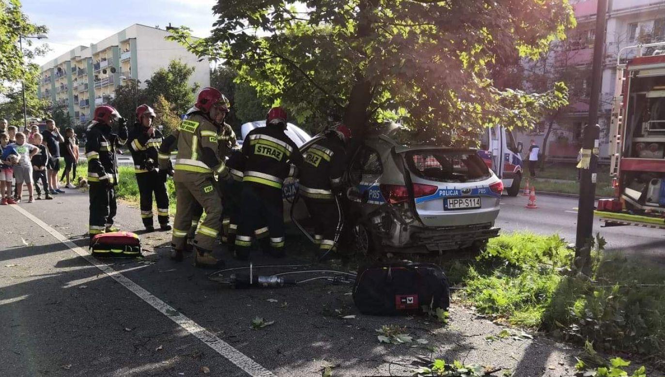 Sytuacja miała miejsce przy skrzyżowaniu ulic Korfantego i Powstańców Śląskich (fot. Facebook/Świony 112)