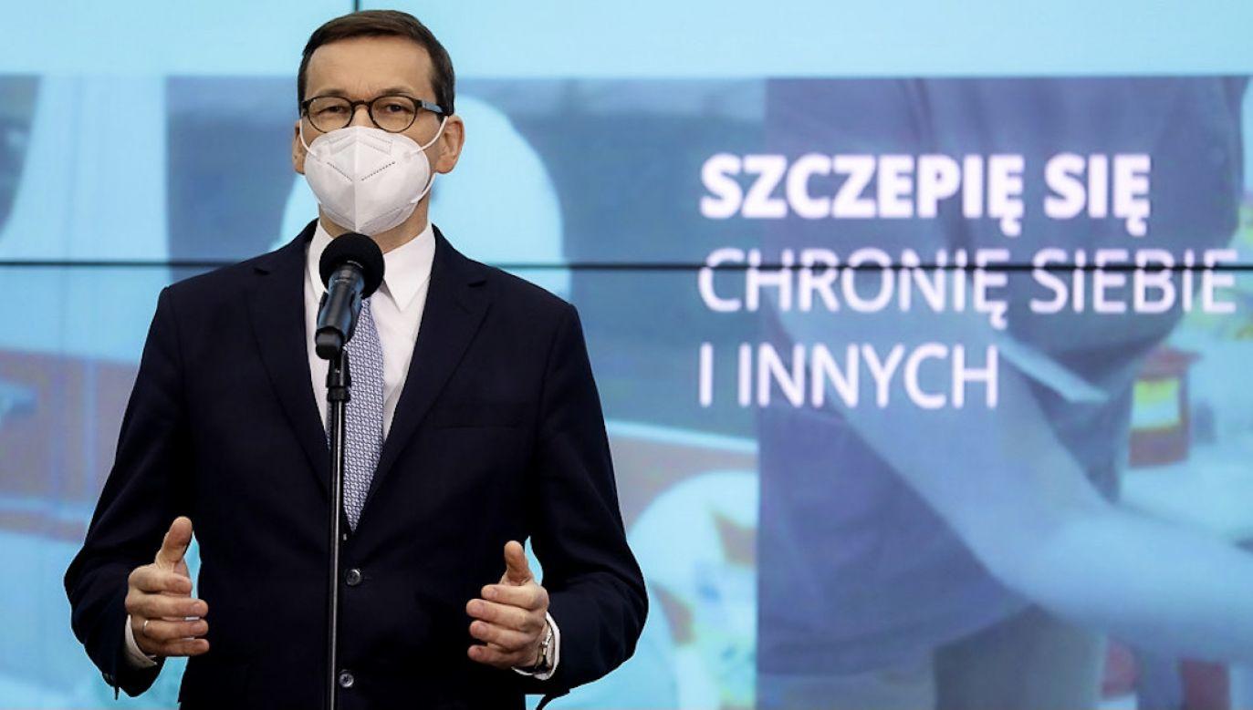 Mateusz Morawiecki przyjmie szczepionkę przeciwko COVID-19 (fot. Adam Guz/KPRM)