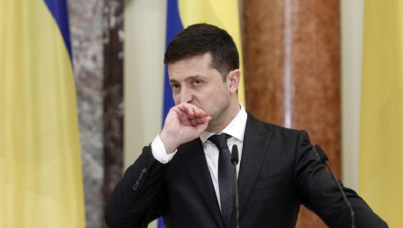 Ukraiński prezydent domaga się wycofania rosyjskich wojsk z Donbasu (Photo by Pavlo Gonchar/SOPA Images/LightRocket via Getty Images)