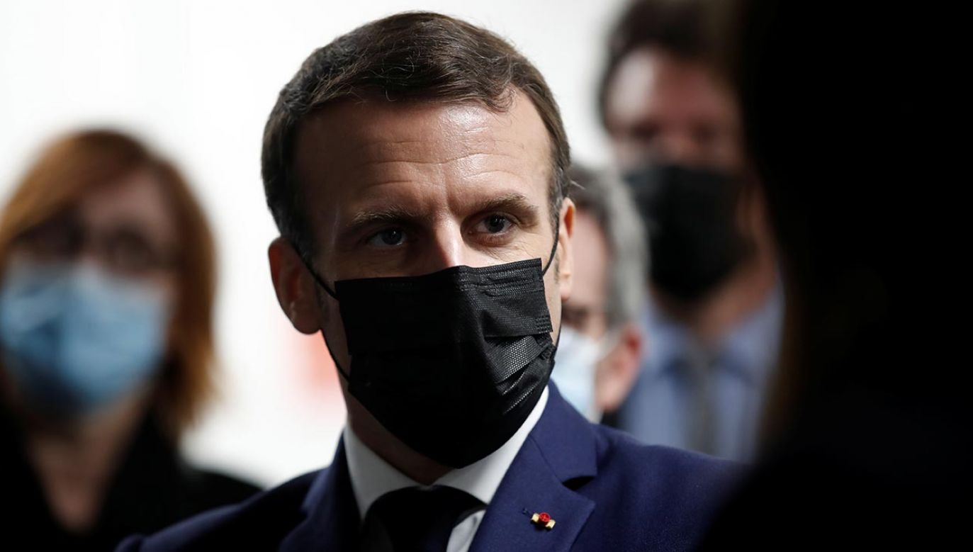 Prezydent Francji Emmanuel Macron (fot. PAP/EPA/BENOIT TESSIER / POOL)