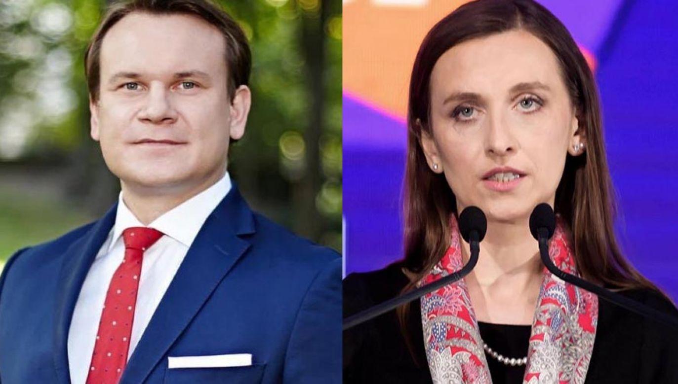 Dominik Tarczyński i Sylwia Spurek (fot. Facebook.com/DominikTarczyński, PAP/Jakub Kaczmarczyk)