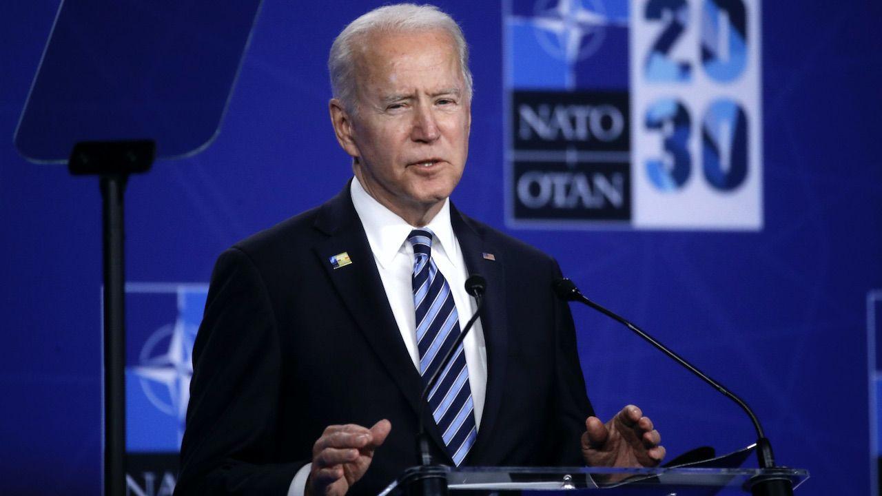 Prezydent USA Joe Biden w Genewie (fot. PAP/EPA/O.HOSLET)