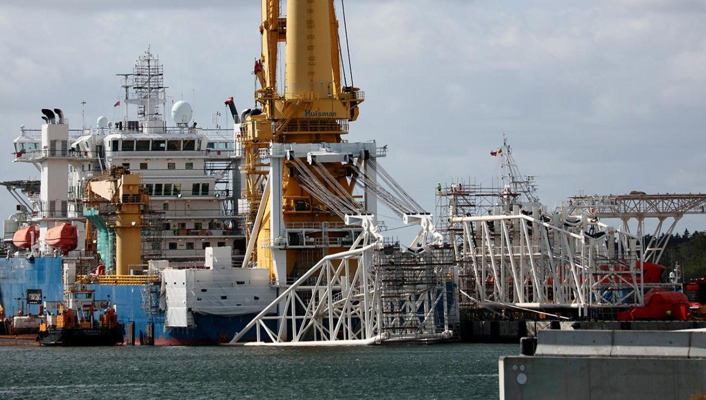 Objęty amerykańskimi sankcjami gazociąg Nord Stream 2 jest gotowy w 94 proc. (fot. REUTERS/Hannibal Hanschke)