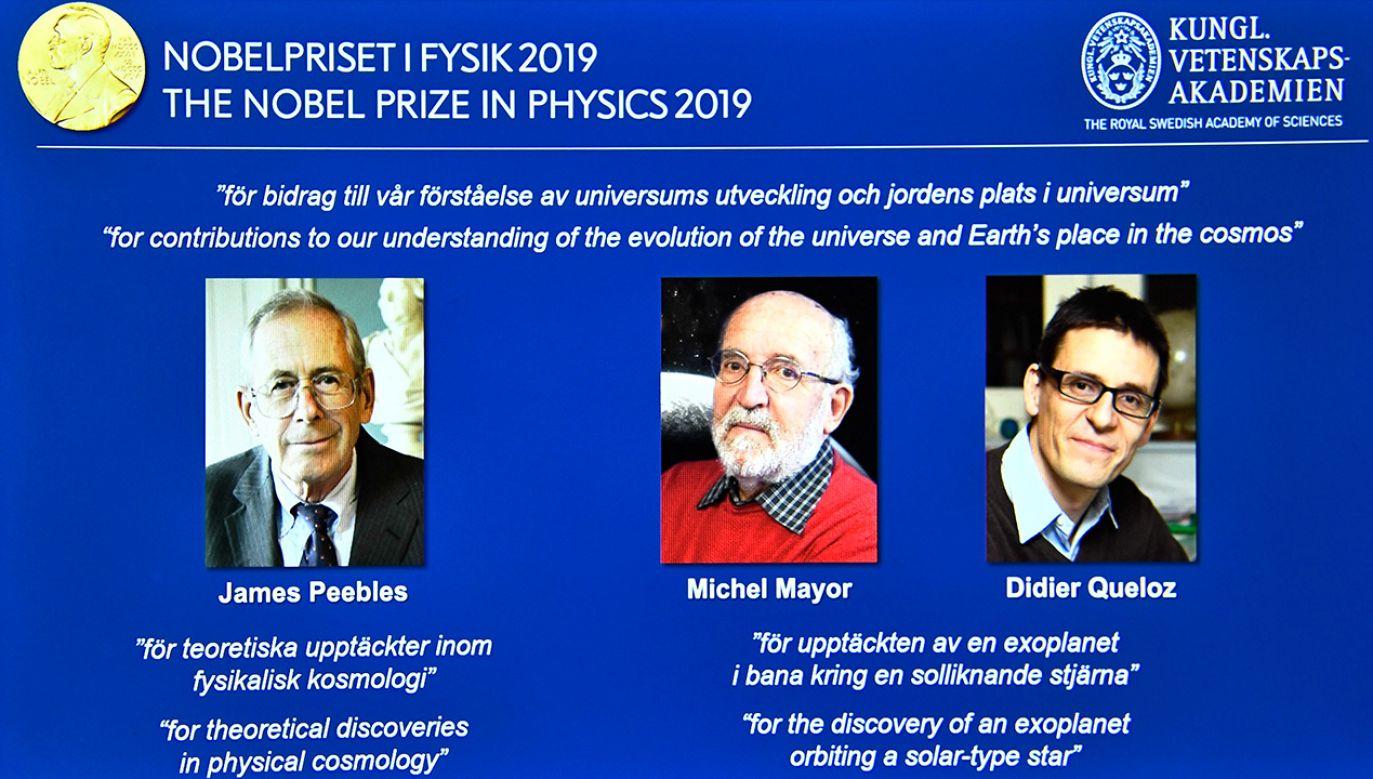 Szwajcarzy Micheal Mayor i Didier Queloz zapoczątkowali rewolucję w astronomii – w 1995 r. dokonali odkrycia pierwszej egzoplanety, tj. planety spoza Układu Słonecznego (fot. PAP/EPA/Claudio Bresciani)