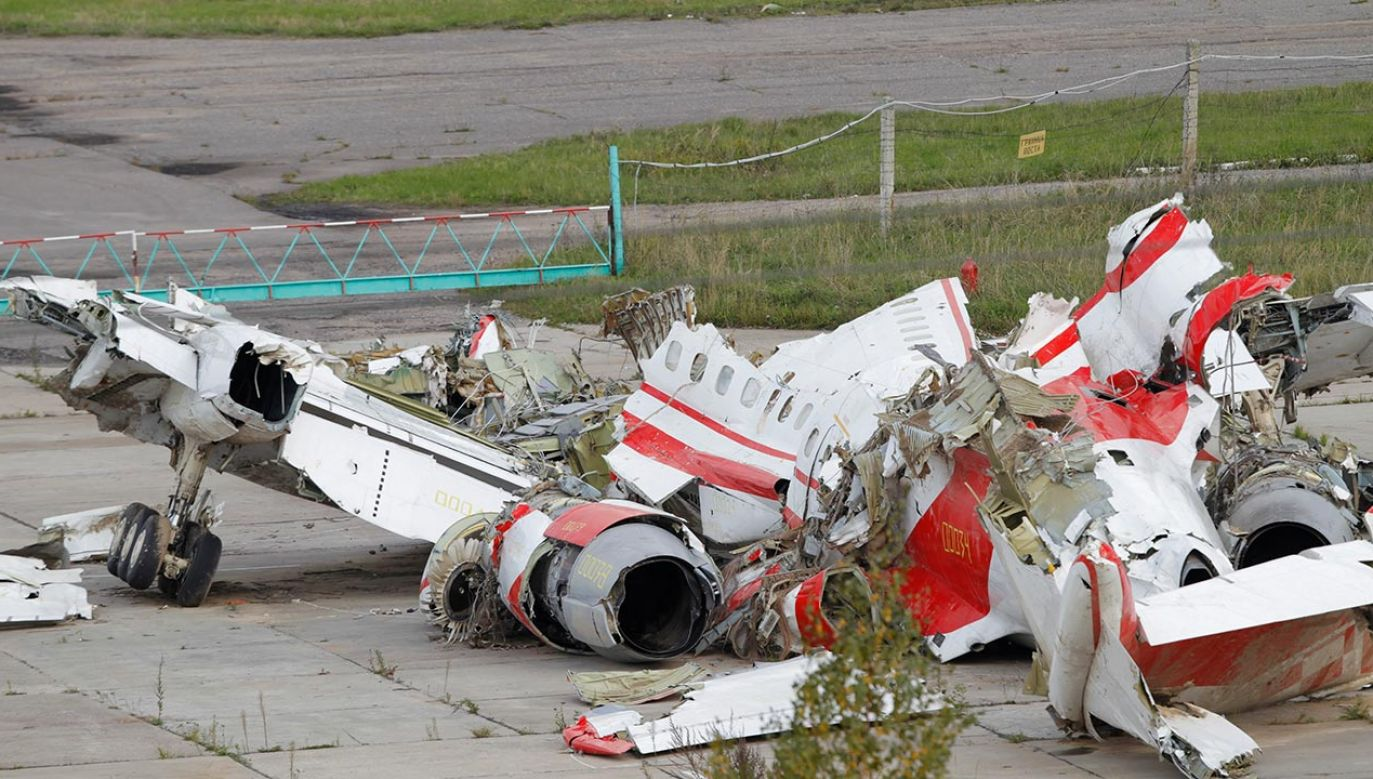 Wrak Tu-154M (fot. PAP/EPA/YURI KOCHETKOV)