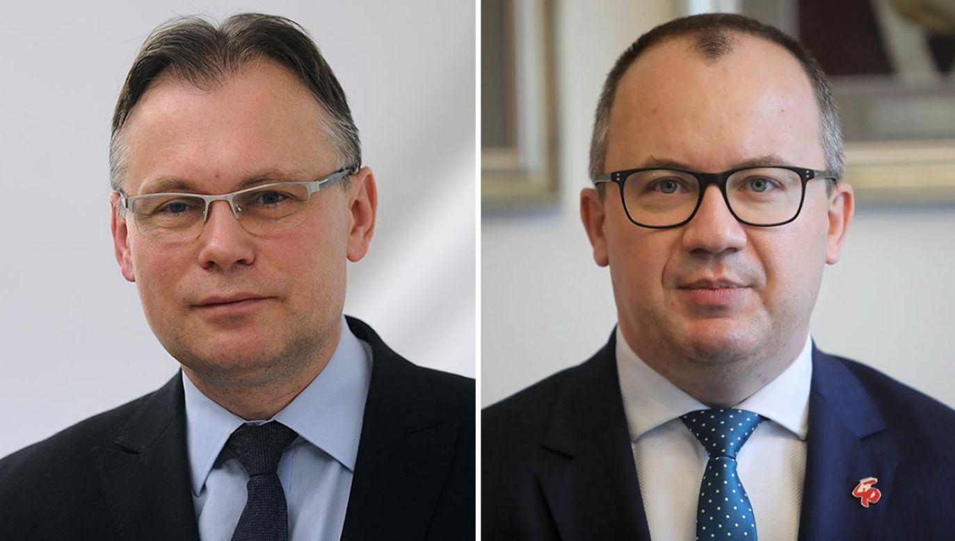 Arkadiusz Mularczyk i Adam Bodnar. Kontrowersje ws. RPO (fot. Forum/Adam Chelstowski; PAP/Wojciech Olkuśnik)